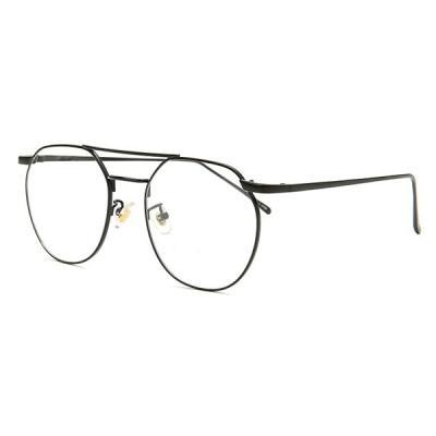 shine 두줄 블랙 육각형 안경 금속테안경 메탈안경