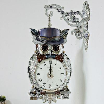 (kmkz0429)럭키 부엉이양면시계 (실버)