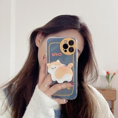 아이폰12 미니 11 pro max 고양이 그립톡 젤리 케이스