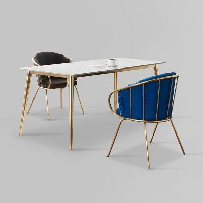 카엘로 세라믹 마블 골드 식탁 세트 1400 + 의자 2개