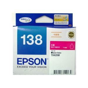 엡손(EPSON) 잉크 C13T138370 / NO.138 / 진홍 / Stylus TX230W,TX235,TX420W,TX430W,TX435W , Stylus Office TX320F,TX325F