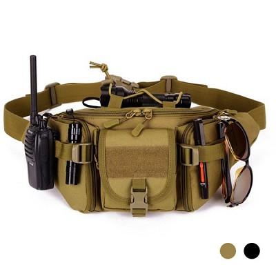 밀리터리 플러스 웨이스트 팩 힙색 여행 보조 가방