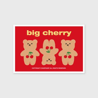 Three cherry big bear(엽서)