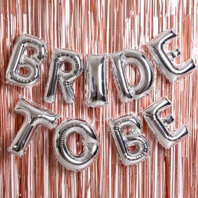은박풍선 커튼세트 (BRIDE TO BE) 실버