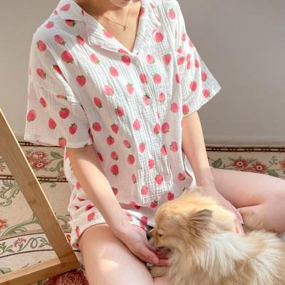 여름 순면 딸기 잠옷