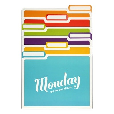 File Folders-Days of the Week (파일폴더-요일별 컬러파워)