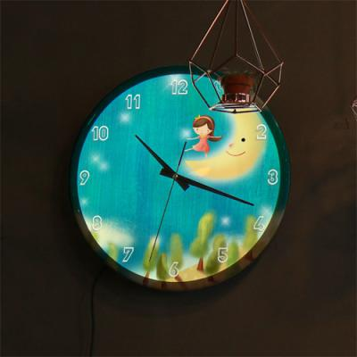 ng143-LED시계액자35R_소녀의꿈속여행B