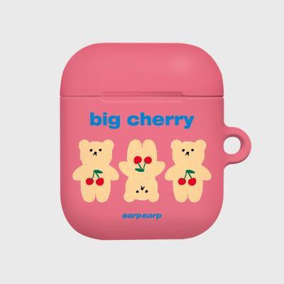 Three cherry big bear-pink(Hard air pods)