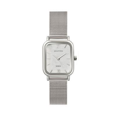 20대 여자 자개 디자인 메쉬 여성 시계 하버 실버