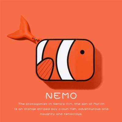 에어팟 케이스 물고기 실리콘 분리형 커버/321오렌지