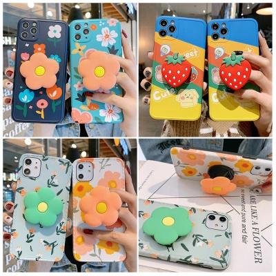 아이폰11 pro max 꽃잎 딸기 그립톡 TPU 슬림 케이스
