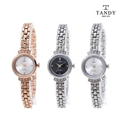 탠디 TANDY 프린세스 다이아몬드 시계 T-4021