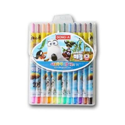 색연필 12색 미술 색칠 놀이 그림 어린이 학용품