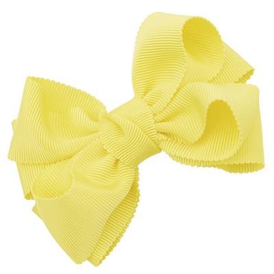 [헤어보우]Double ribbon 헤어핀-옐로우(HB110083-3)
