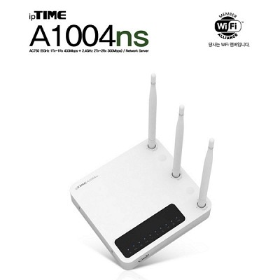 [EFMNetworks] ipTIME A1004NS (1Tx-1Rx 433Mbps/Dual Band WiFi/5dbi 3안테나)
