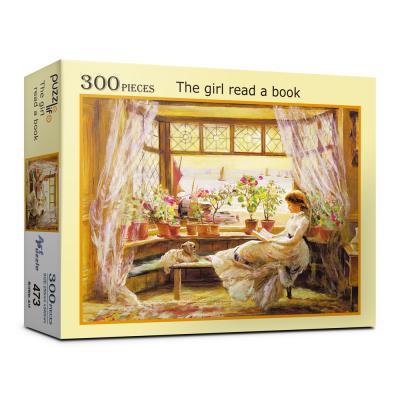 300피스 독서하는 소녀 직소퍼즐 PL473