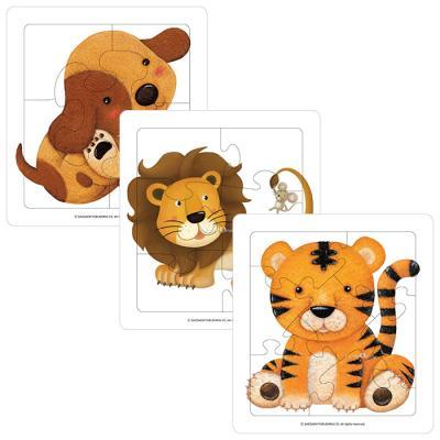 5 6 7조각 판퍼즐 - 호랑이 사자 강아지 (3종)
