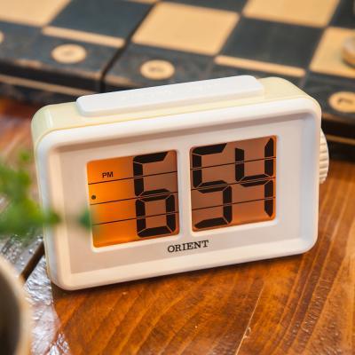 오리엔트 플립형 OT1561 옐로우 알람 디지털시계