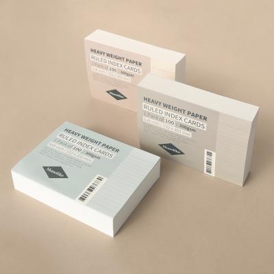 컬러 룰드 인덱스카드 100매 - 6x8