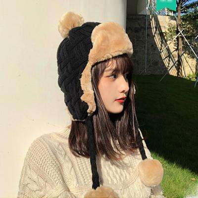 코아 방울 털 방한 군밤 모자