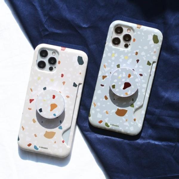 [그래비] 컬러풀 도트 스마트톡 무광 카드 슬림