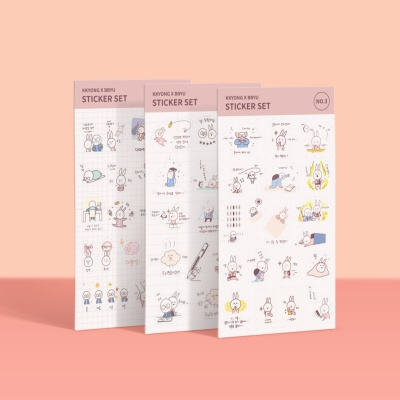 [공부일기] ?쀼 스티커 - Vol.1 모트모트
