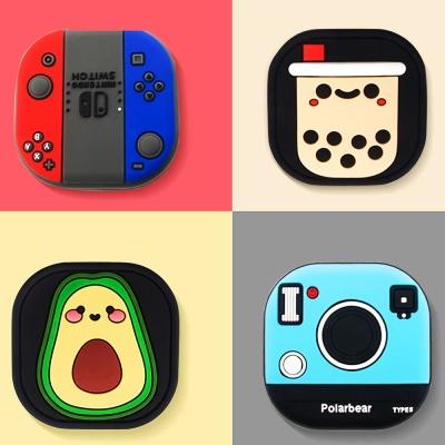 갤럭시버즈라이브케이스 카메라 게임기 버블티 실리콘