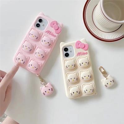 아이폰 12 11 pro max 헬로 고양이 실리콘 팝잇케이스