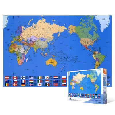 1000피스 직소퍼즐 - 세계 지도 2 (한글판)