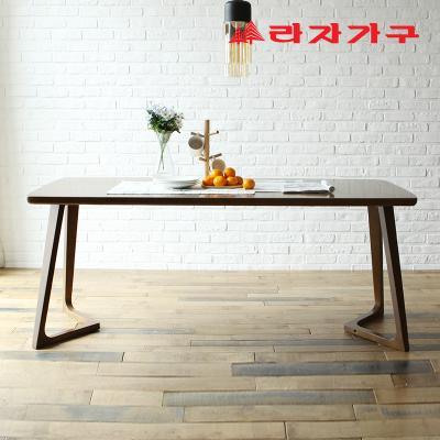 쿠니 고무나무 원목 6인 식탁 테이블 1800