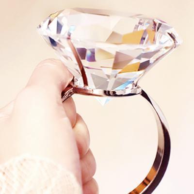 프로포즈 1만 캐럿 다이아 반지 이벤트용품 (투명)