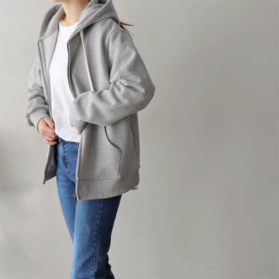 Gimo Hood Zip-Up Sweatshirt - 안감기모