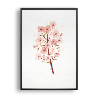 벚꽃다발 / 일러스트 액자