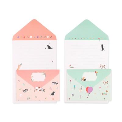 018-SL-0002 생일 고양이 폴딩 편지지