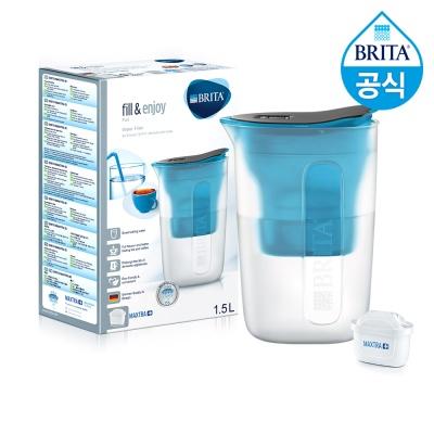 필터형 정수기 브리타 펀 1.5L 블루+필터1개월분(기본구성)