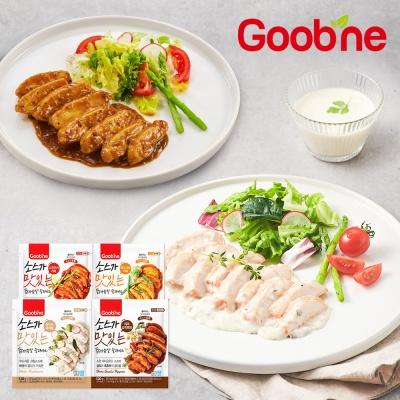 [굽네]소스가 맛있는 닭가슴살 슬라이스 4종 1팩