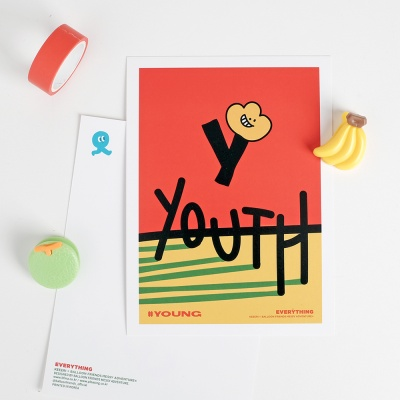 [KEEERI x BFMA] EVERYTHING 엽서 - YOUNG