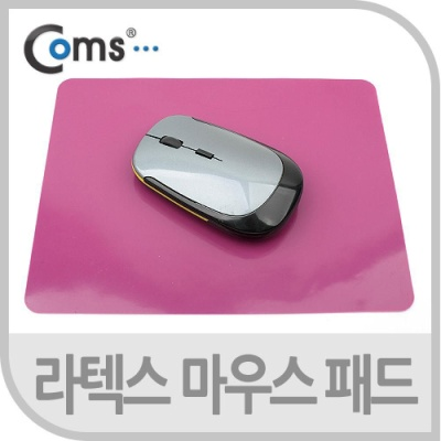 Coms 마우스 패드(라텍스 재질) 핑크