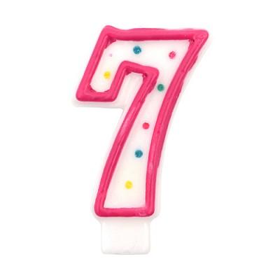 도트 숫자초7-핑크