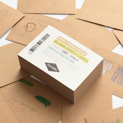 블랭크 인덱스카드 크라프트 100매 - 3.5x5
