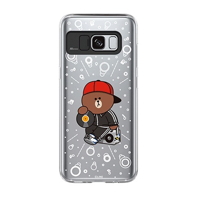 Galaxy S8 BROWN DJ Light UP Case