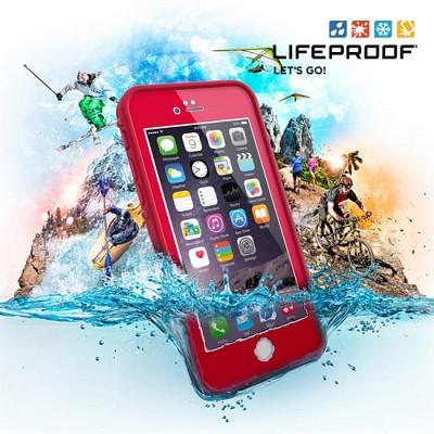 [라이프프루프] 방수케이스 액정 보호형 아이폰6 케이스 fre Red 77-50361