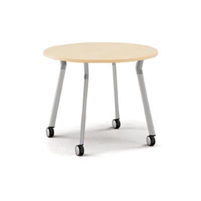 퍼시스 엑스페이스 4인용 테이블 이동형Ø900 GRN009O