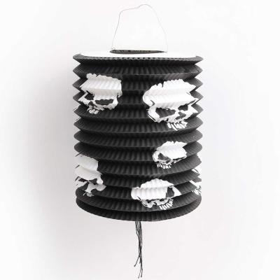 할로윈 원통등 23cm - 해골 블랙