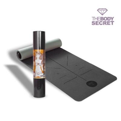 더바디시크릿 오리진 센터라인 요가매트 6mm 블랙