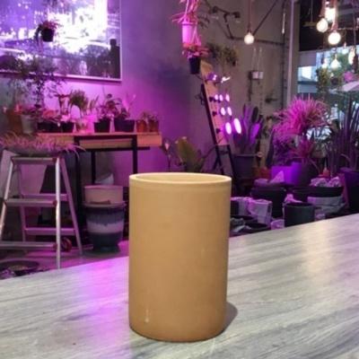 황토빛 원형-필통 9x14cm 토분(갈색화분)