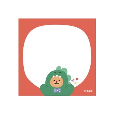 카키즈_공룡 떡메모지