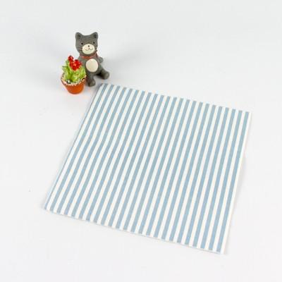 엣지있는 줄무늬 냅킨-블루