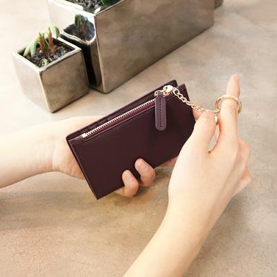 D.LAB Coin Card wallet  - Burgundy