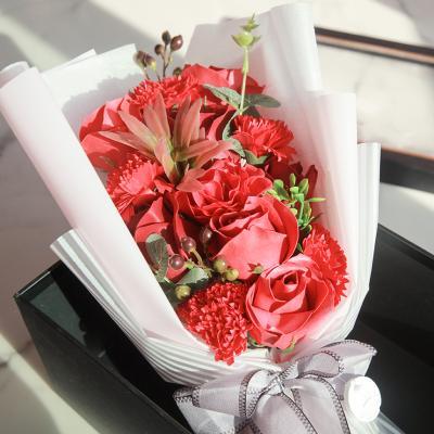 조화 블룸 카네이션 비누꽃 꽃다발 박스 중형